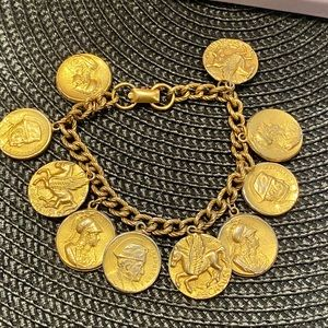 CORA  Vintage bracelet with gold coins
